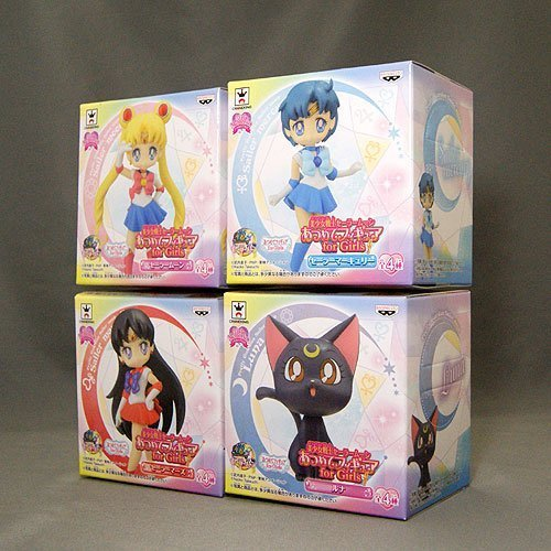 Figures for Girls1 all four sets gathered Sailor Moon
