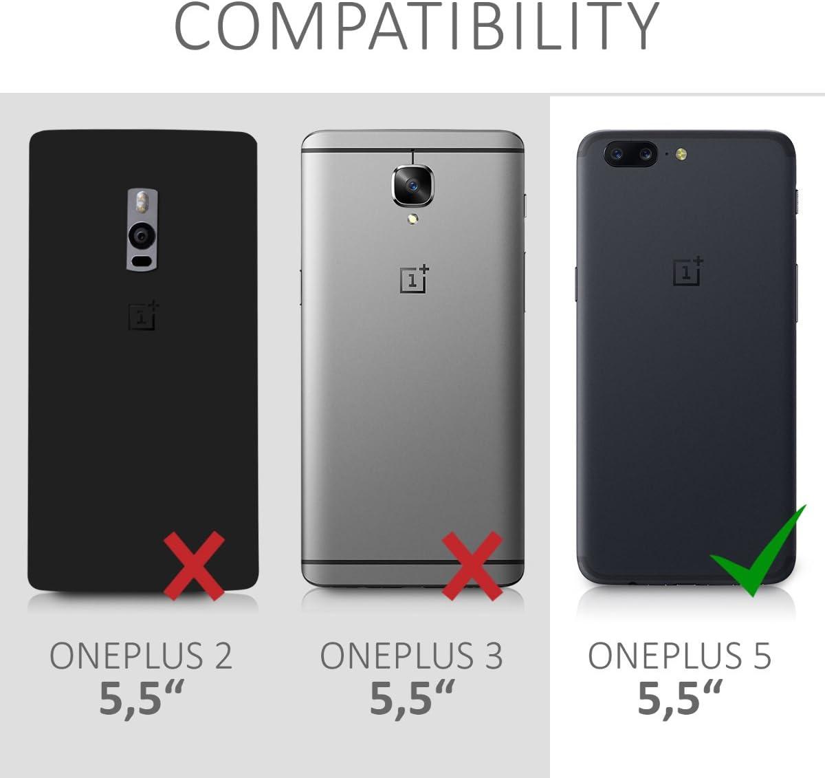 kwmobile Funda para OnePlus 5 (5,5