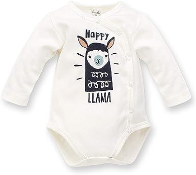 Pinokio - Happy Llama - Traje de bebé - Body de Manga Larga - 100% algodón Crema Verde con una Llama para niñas Unisex, recién Nacido 56 62 68 74: Amazon.es: Ropa y accesorios