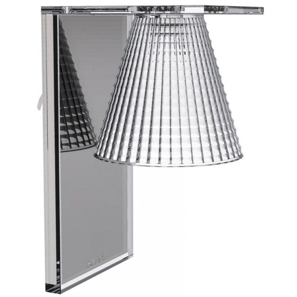 Kartell 9120B4 Wandleuchte Light-Air mit Prägung glasklar