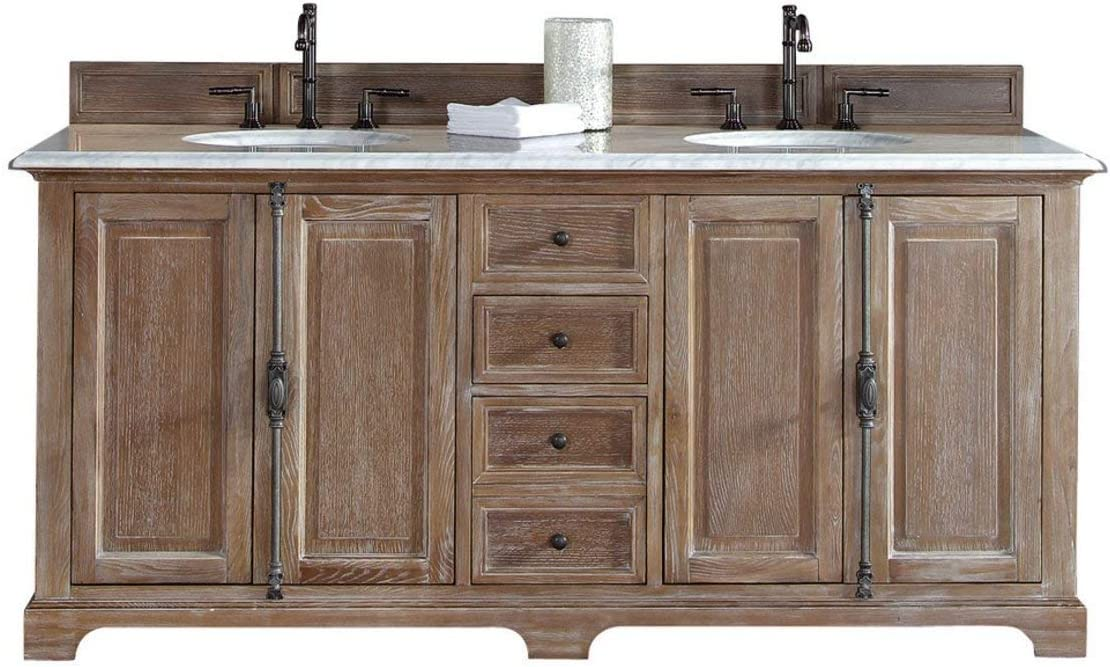 James Martin Providence 72 Double Bathroom Vanity in Driftwood – Top Not Included