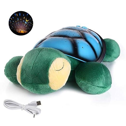 YUELAI Proyector Lámpara de Dormir Lámpara Infantil 360 Grados de ...