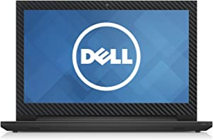 Black Carbon Fiber skin decal wrap skin Case for Dell Inspiron 15 3000 series 15.6