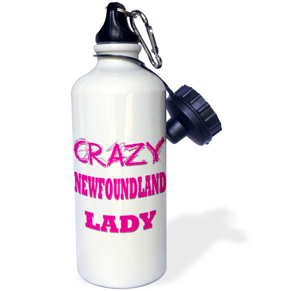 Multicolored 3dRose Crazy Newfoundland Lady-Sports Water Bottle 21oz wb/_175202/_1