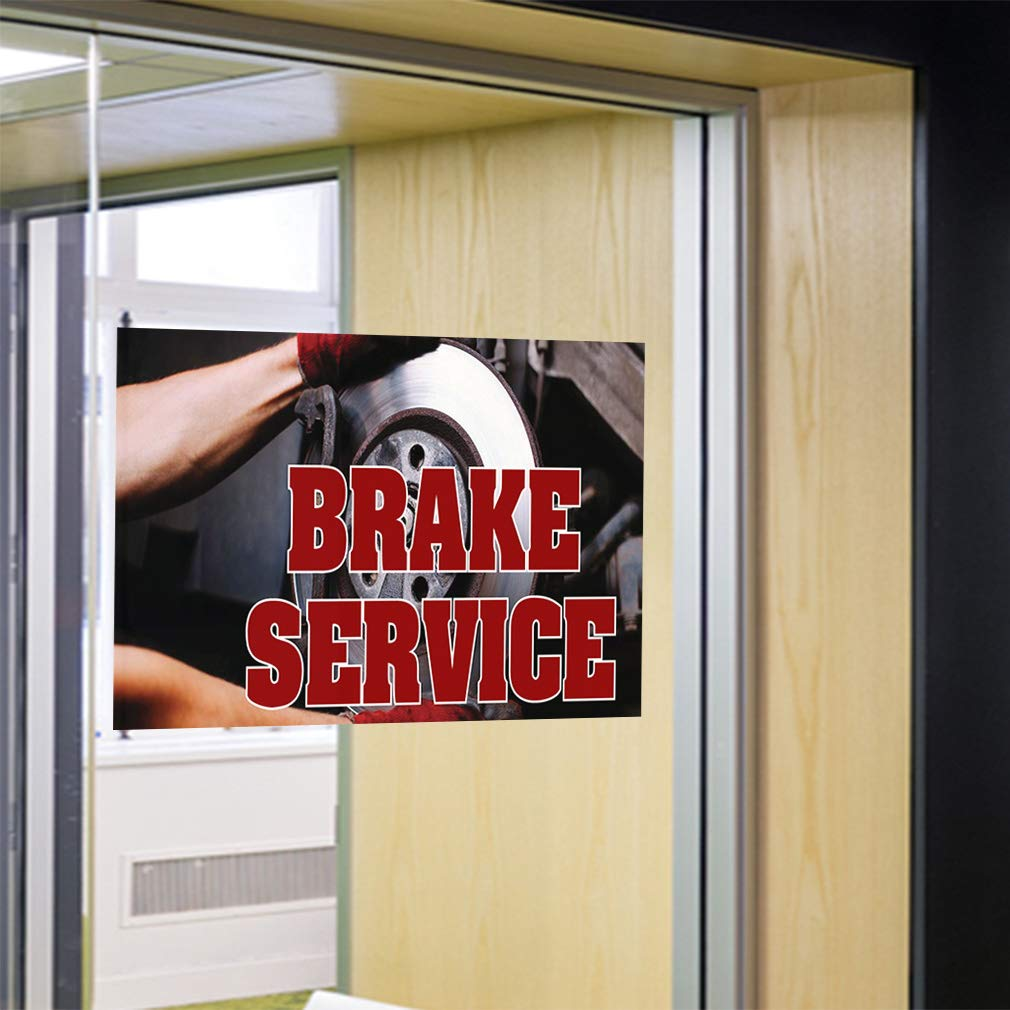 Decal Sticker Multiple Sizes Brake Service #3 Automotive Mechanics Outdoor Store Sign Red 69inx46in One Sticker