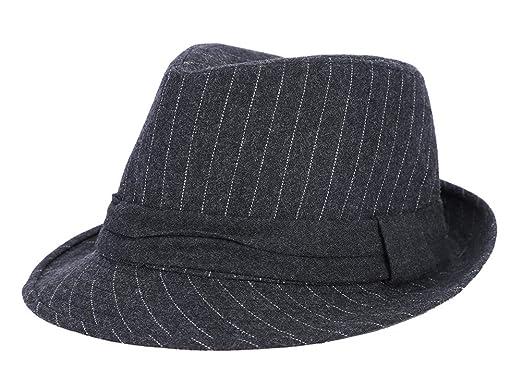 574f526a566dc Melón Sombrero Hombre Mujer Cálido Sombrero de Fieltro Lana Moda Jazz  Sombrero Transpirable Plegable Sombrero Patrón Raya Invierno Bowler  Sombreros para ...