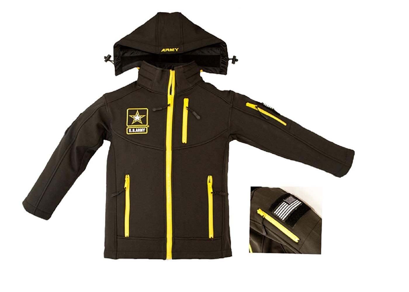 Trooper Clothing Army Embroidered Softshell Youth Jacket