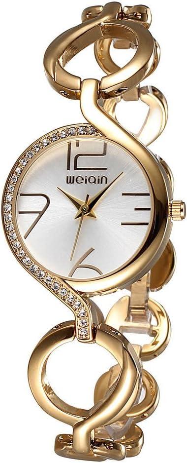 Gosasa Fashion Women s Swarovski Crystal-Accented Stainless Steel Gold Quartz Bracelet Watch