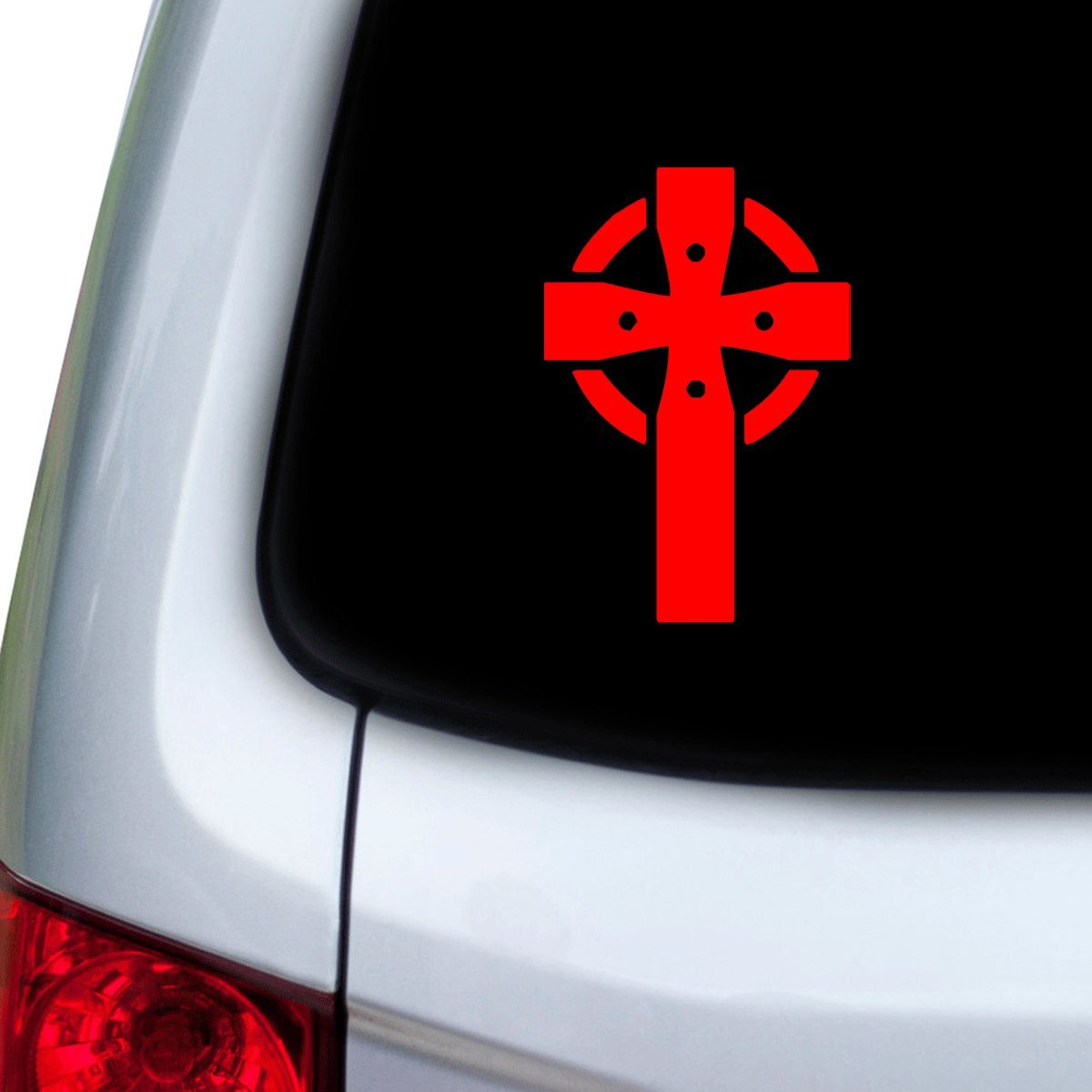Amazon com stickany car and auto decal series celtic cross sticker for windows doors hoods red automotive
