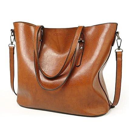 828f8630a9c5 Amazon.com: Women Shoulder Bag Women Handbags Oil Wax Leather Large ...
