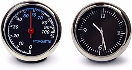 JISHUQICHEFUWU El termómetro de Coche/Car/Reloj Mesa Automotriz ...