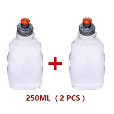 Aonijie 2pcs 170/250Ml Sports de plein air Cyclisme Marathon Course Bouteille bouteilles d'eau