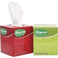 Biogreen Soft Cube Facial Tissue 2ply 100 Pulls - Pack of 2