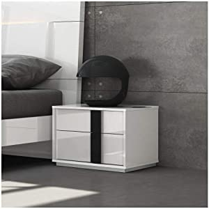 Whiteline Modern Living NS1617-WHT Kimberly Nightstand, White