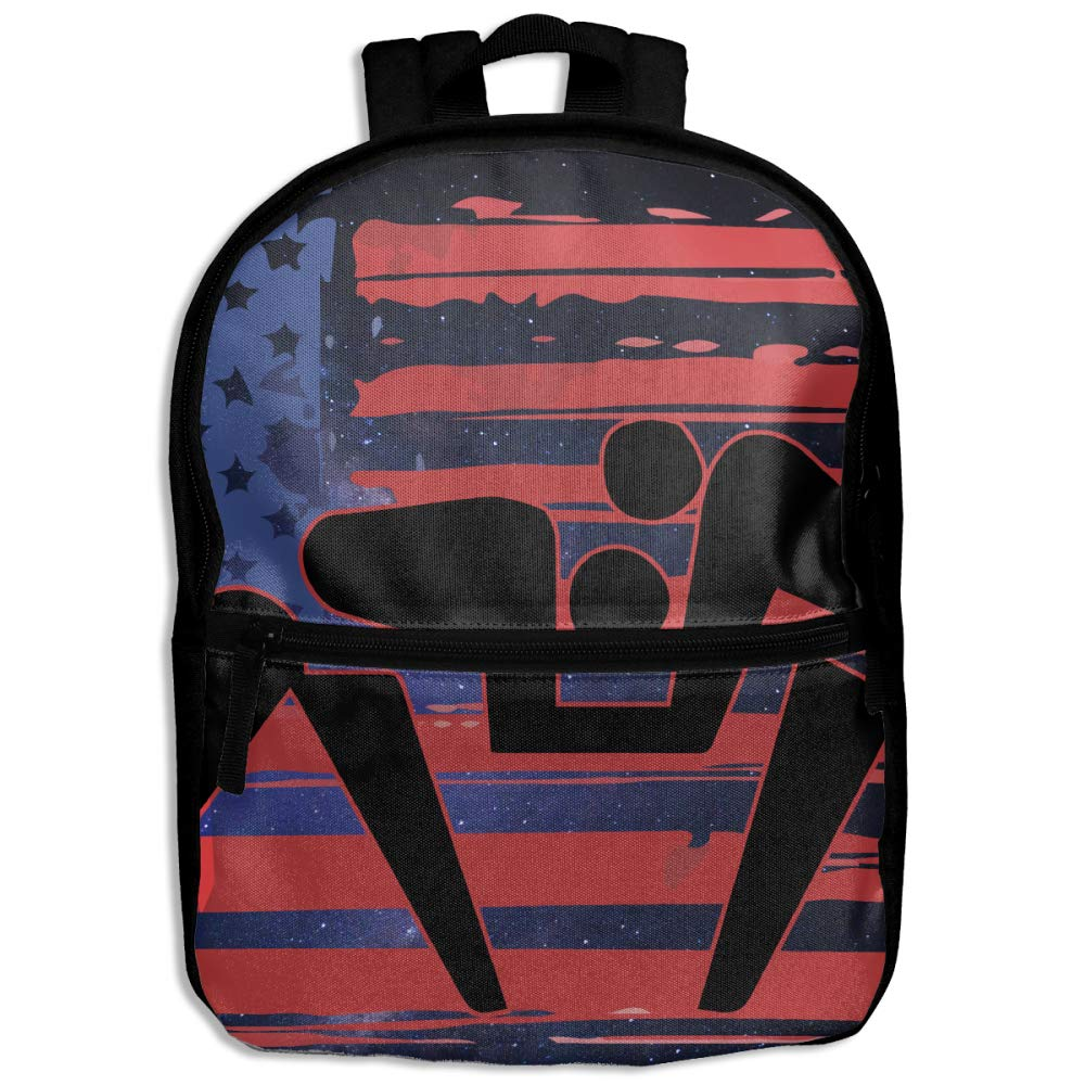 US American Flag Wrestling Children's Character Casual School Backpacks Shoulder Bag