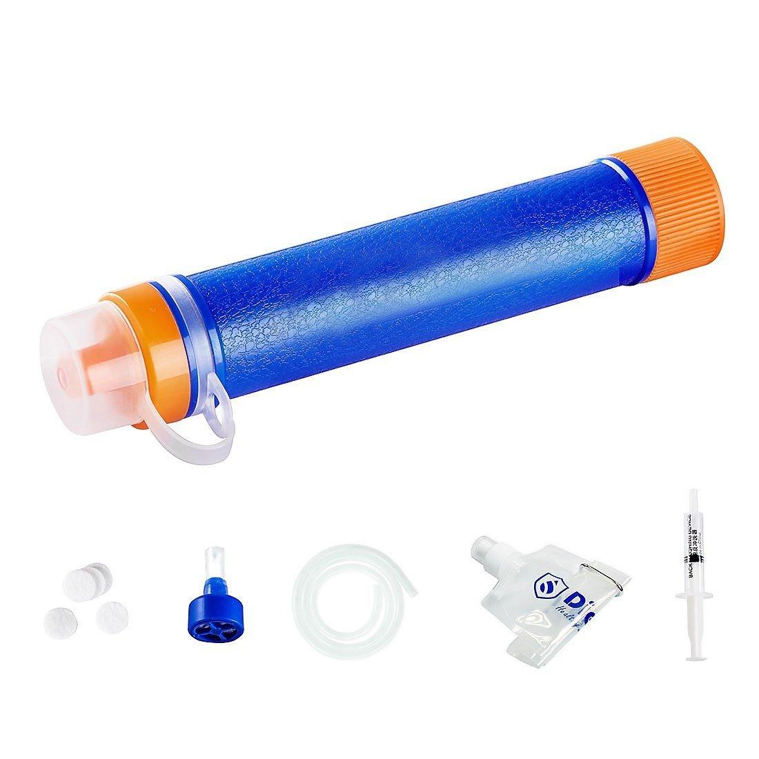 Joyeer Mini Wasser Filtration System Life Straw Portable Survival Gear Notfall Camping Ausrüstung Survival Kit Zubehör für Outdoor Sport Wandern Erkunden Outdoor Survival Relief