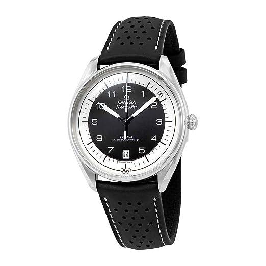 Omega Seamaster 522.32.40.20.01.003 - Reloj de Pulsera para Hombre, diseño olímpico, automático, Piel Negra, edición Limitada: Amazon.es: Relojes