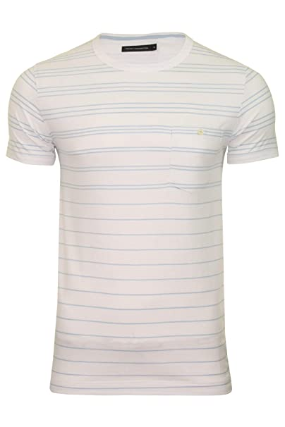 7a08466e75 French Connection Summer Graded Stripe Crew Neck T-Shirt Uomo ...