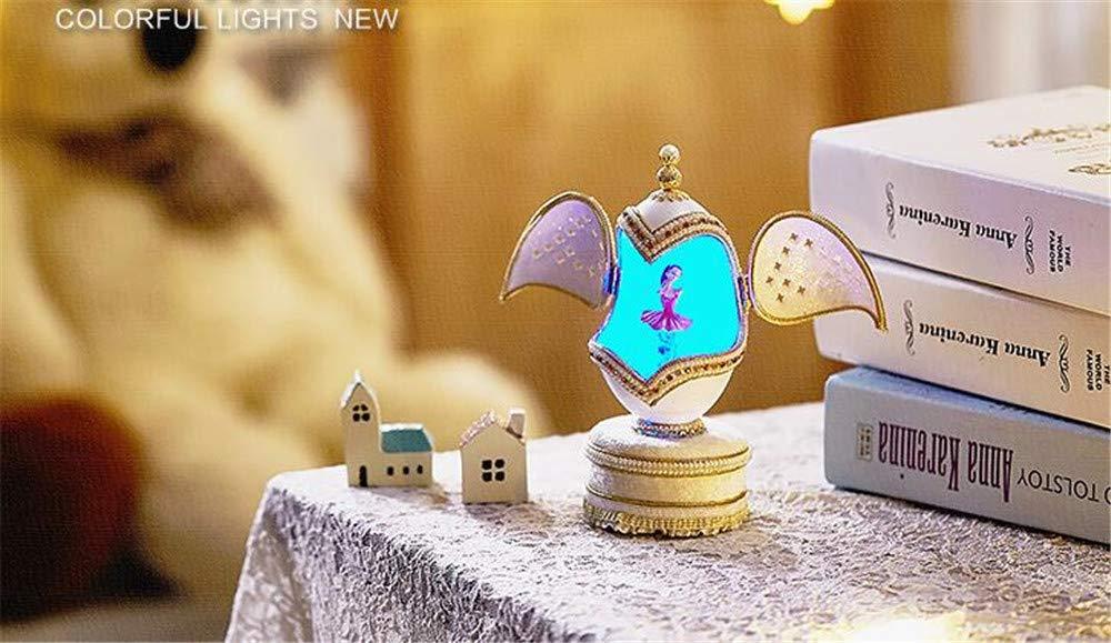 Cuzit Ballett M/ädchen Spieluhr LED Licht rotiert Ei Spieluhr f/ür Weihnachten//Geburtstag//Valentinstag//Hochzeit//Jahrestag//Osterei