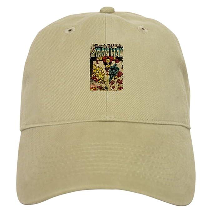 bf3ebc05ea645 Amazon.com  CafePress Iron Man Baseball Cap with Adjustable Closure ...