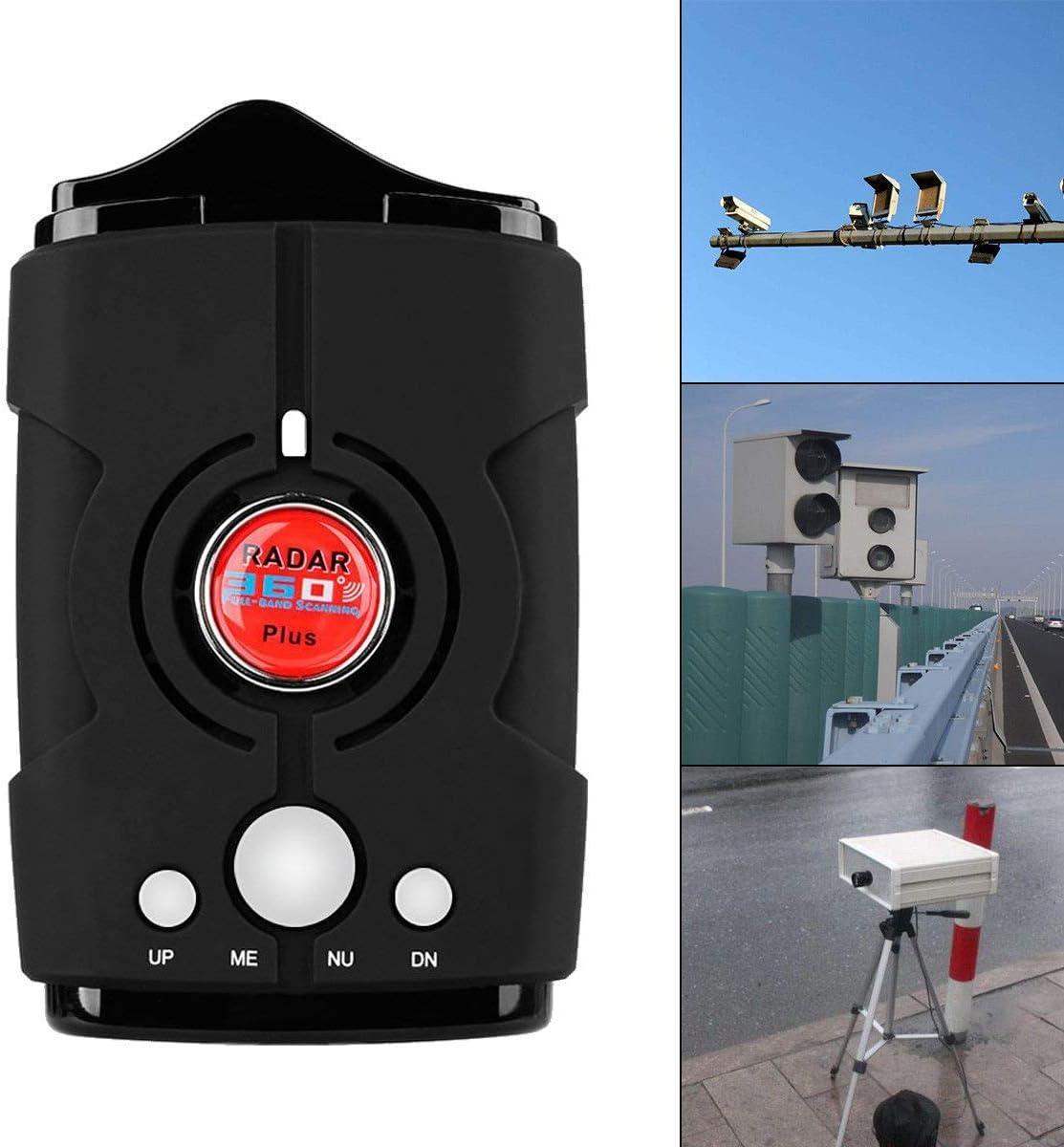 Black Voice Prompt Speed RICHOYY Radar Detector City//Highway Mode Radar Detector for Cars