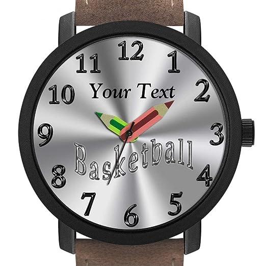 Elegante Reloj de Pulsera con Forma de lápiz, Regalo 304. Relojes Personalizados para Mujer, Relojes de Baloncesto: Amazon.es: Relojes