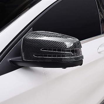 2 piezas de espejo retrovisor de puerta lateral de carbono ABS para Benz A CLA GLA GLK Class W117 W176 2014-17: Amazon.es: Coche y moto