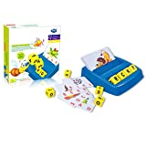 Alphabet Learning Toys, Picture Pinyin Literacy Puzzle English Letter Card Machine, Educational Toys for Children Over 3…