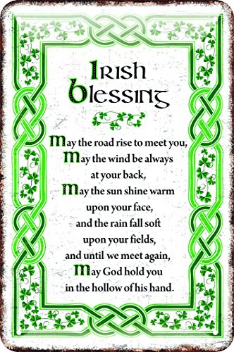 Irish Metal Sign With The May Irish Blessing,