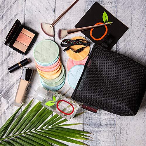 Velvet Face - Slowneerg Crystal Velvet Makeup Remover KIT - 12 Pads, Laundry Bag, Dispenser, Hair Ties - All Included - SUPER GRIPPY Facial/Body Wipes, Reusable/Washable.