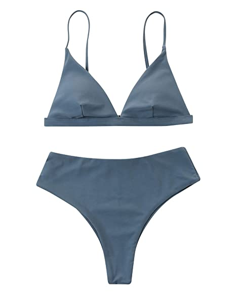 04a200a00f Amazon.com: RXRXCOCO Women Athletic Two Piece Bathing Suit with Boyshort  Sports Bikini Swimsuit: Clothing