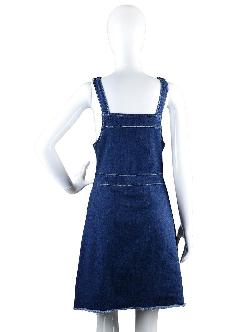 490ddf078b7 Anna-Kaci Womens 90s Fashion Adjustable Strap Denim Jean Overall Dress