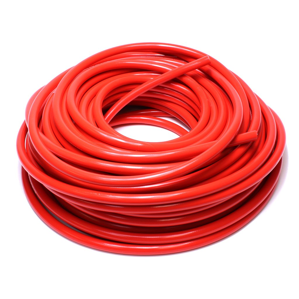 HPS HTHH-062-REDx250 Red 250' Length Silicone High Temperature Reinforced Heater Hose (5/8'' ID)