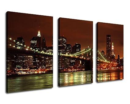 amazon com wall art brooklyn bridge canvas artwork new york city