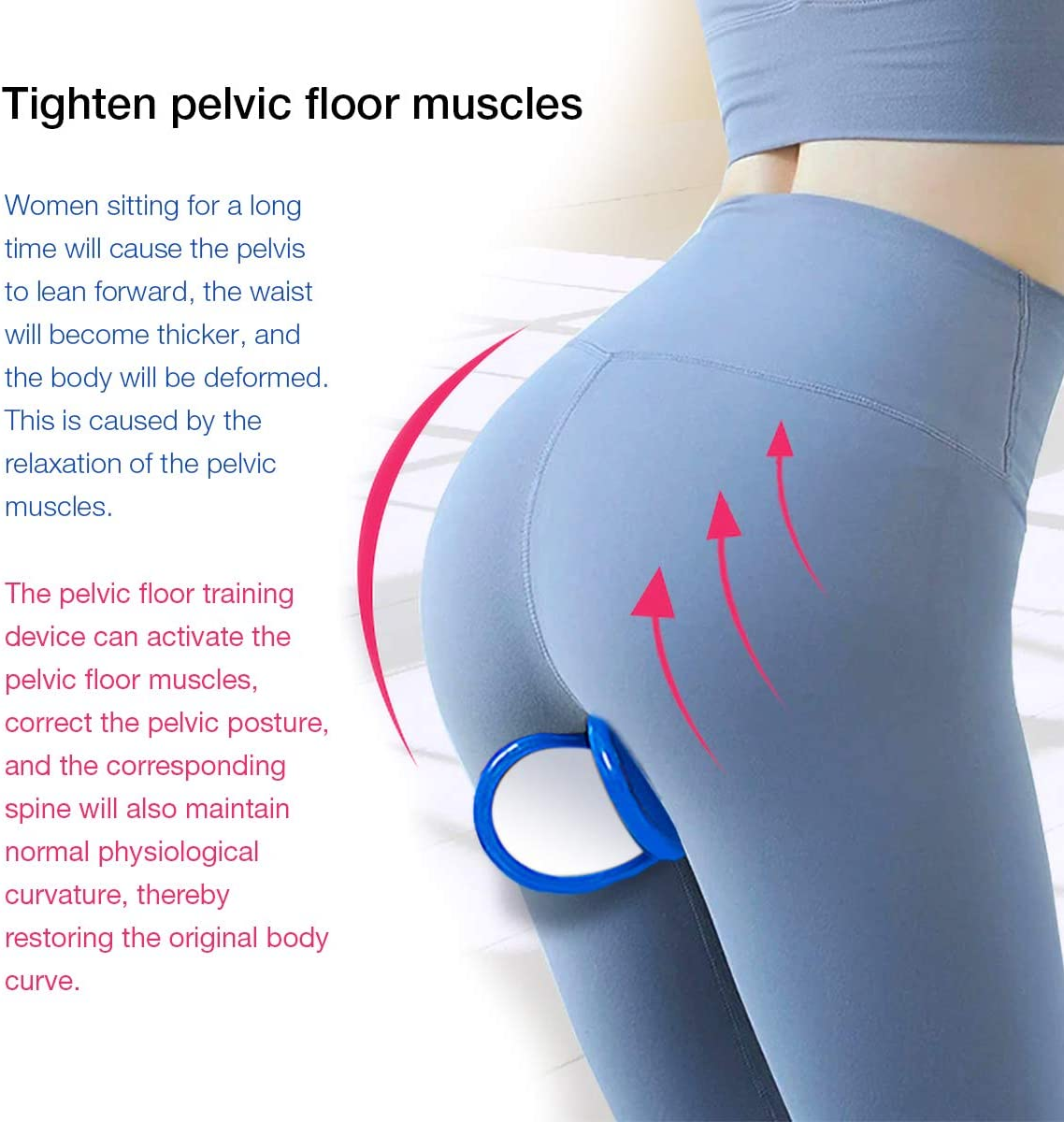 LVCHEN Hip Trainer Buttocks Lifting Pelvic Floor Muscle and Inner Thigh Trainer Hips Exerciser Bladder Control Device: Sports & Outdoors
