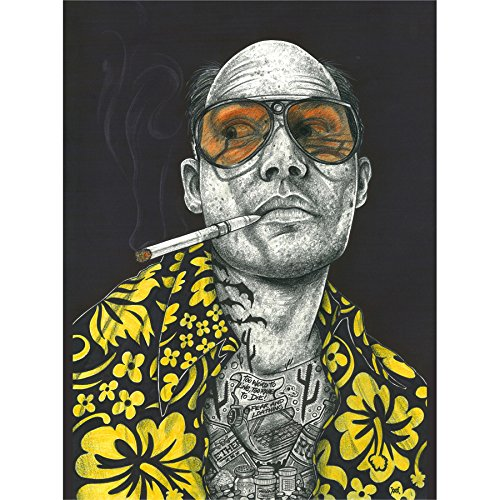 Wee Blue Coo Wayne Maguire Tattooed Fear & Loathing Hunter Inked Ikon Canvas Art Print