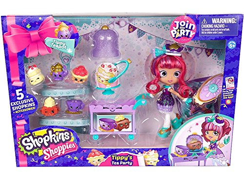 Shopkins Tippy's Tea Party Set 5 Exclusive Shopkins Accessor