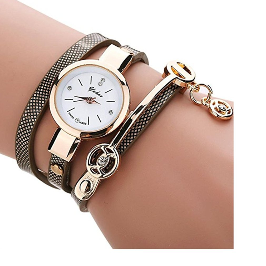 Clearance!Toosvan Women Watch on Sale Leather Metal Strap Analog Quartz Wrist Watch Gift