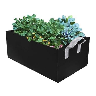 ZAILHWK Garden Growing Bags, Felt Plant Bags with Handles, Fabric Pots, Square Planting Container, Grow Bags Indoor Garden Planter Pot for Plants, Vegetables Fruits Size 60X30X20cm : Garden & Outdoor