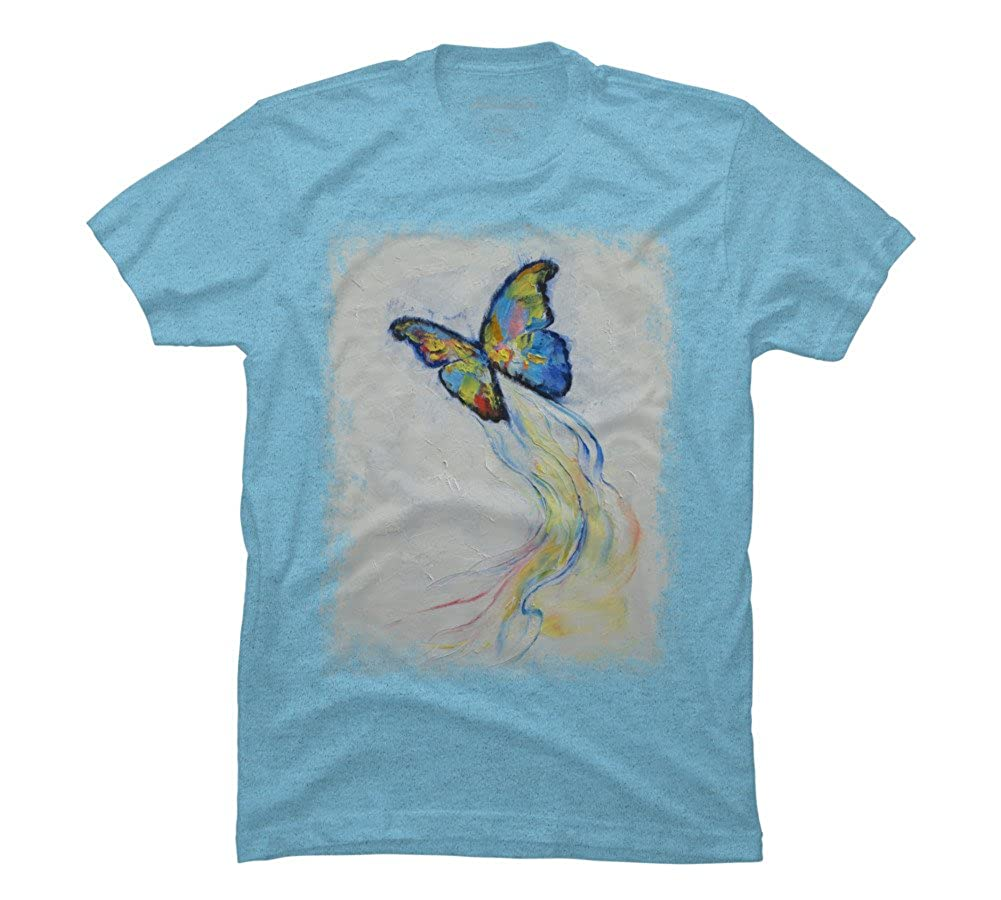 Womens White T-shirt Scattered Butterfly Design  Summer Novelty Print TS245