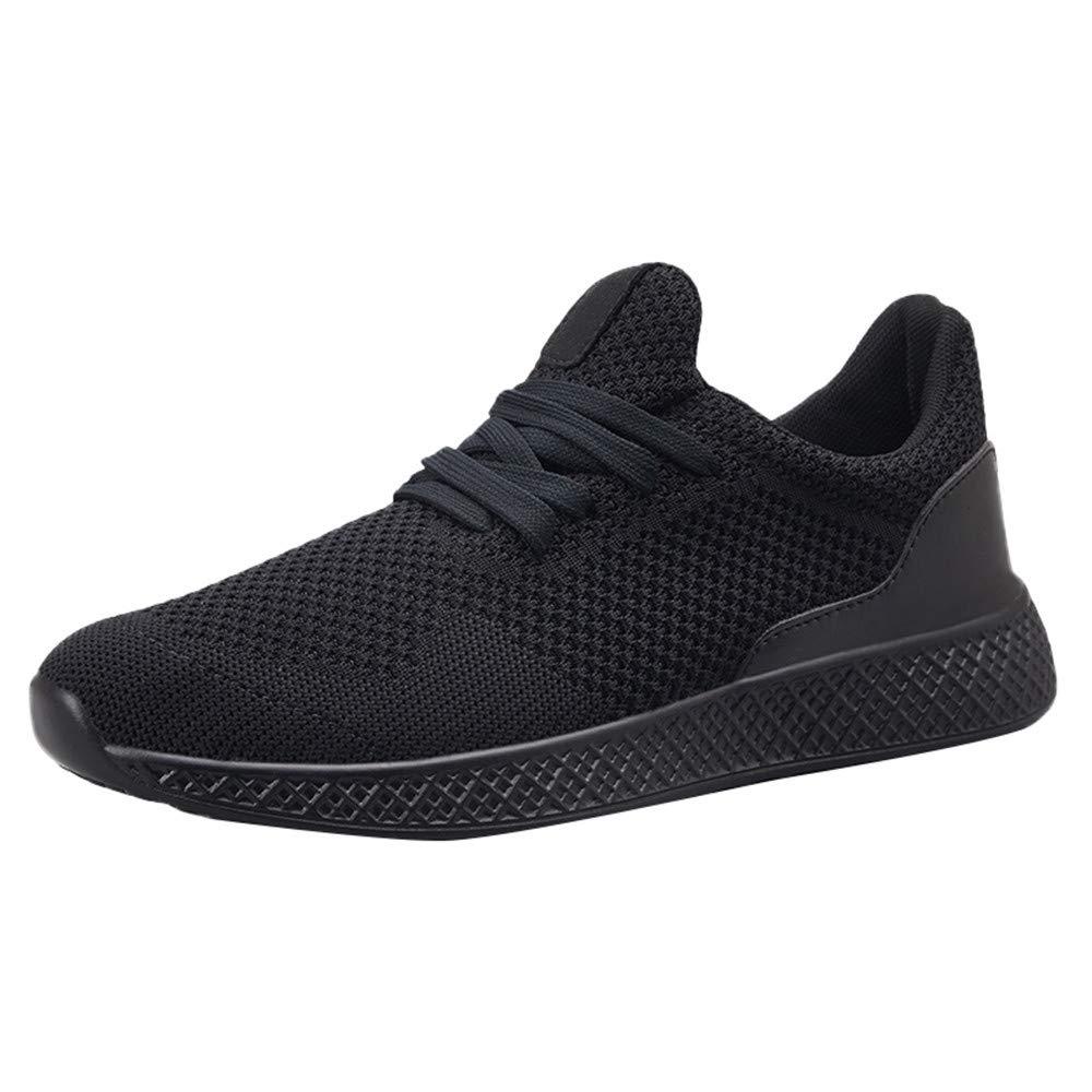 Men's Shoes HOSOME Men Leisure Outdoor Flat Running Sport Shoes Gift for Boyfriend Black