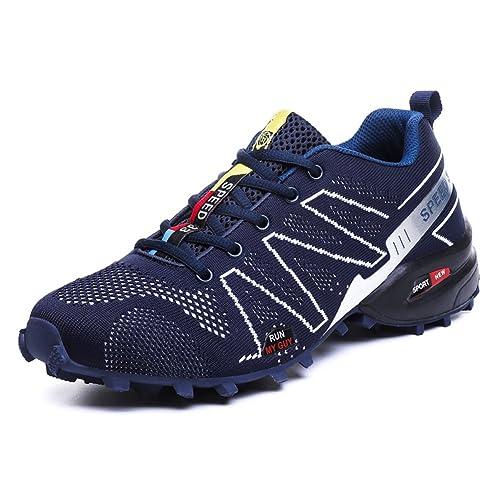 Scarpe da Montagna Uomo Scarpe da Trekking Traspirante Scarpe da  Escursionismo Antiscivolo Scarpe da Arrampicata Blu 813353780da