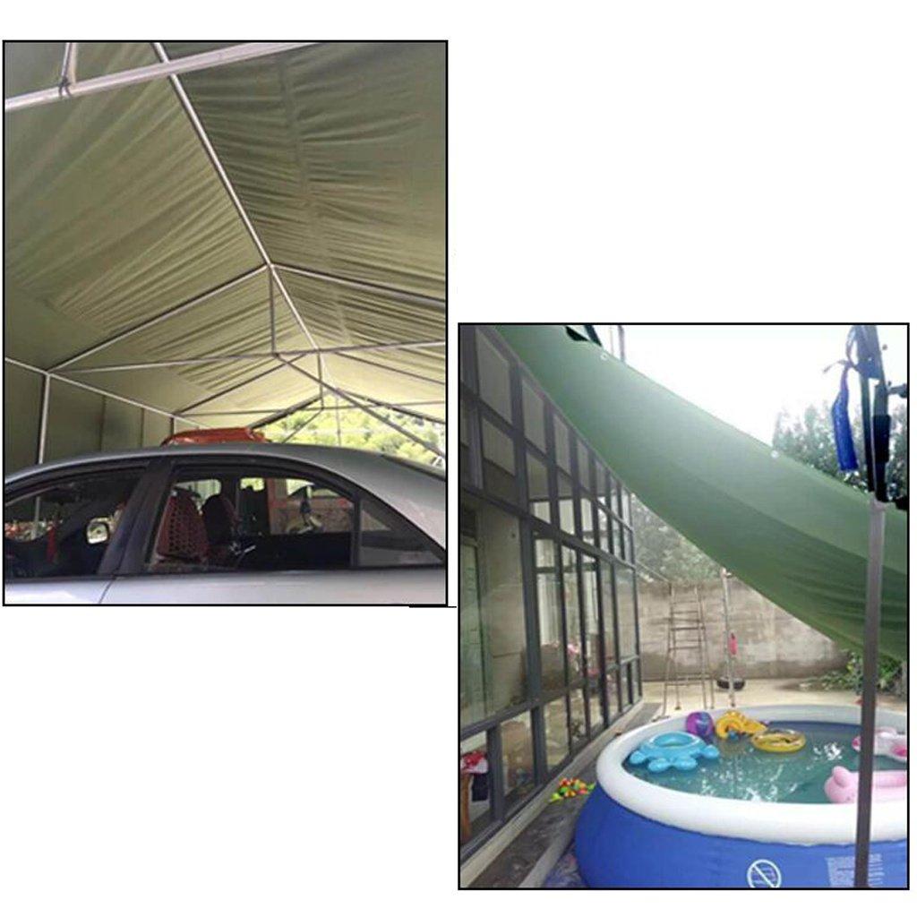 Mehrzweck Plane Planen-Blatt-Tarps Multifunktionsponcho Multifunktionsponcho Multifunktionsponcho für kampierendes Fischen-im Garten arbeitender Sonnenschutz-Kältewiderstand, Stärke 0.33MM, 420G   m², 16 vorhandene Größe, grün Schutzplane B07K3QMZDL Zeltplanen  82f1f0
