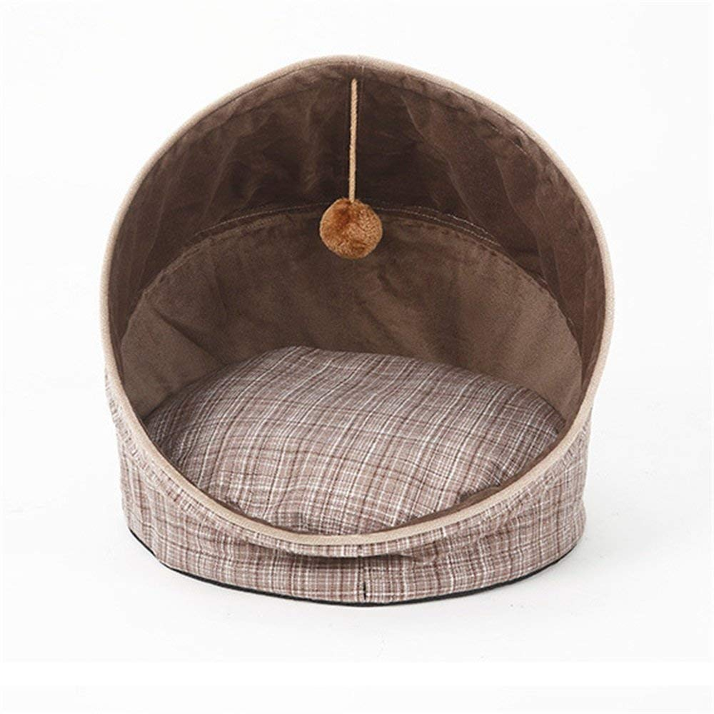 Gwanna Soft and Comfortable Pet Dog Bed, Foldable Portable Pet Nest With Pad Removeable In Fashion And Simple style common use in all seasons Universally Soft Pad for Pets Sleeping