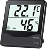 Oria Digital Hygrometer Thermometer, Indoor Temperature Humidity Meter-Black