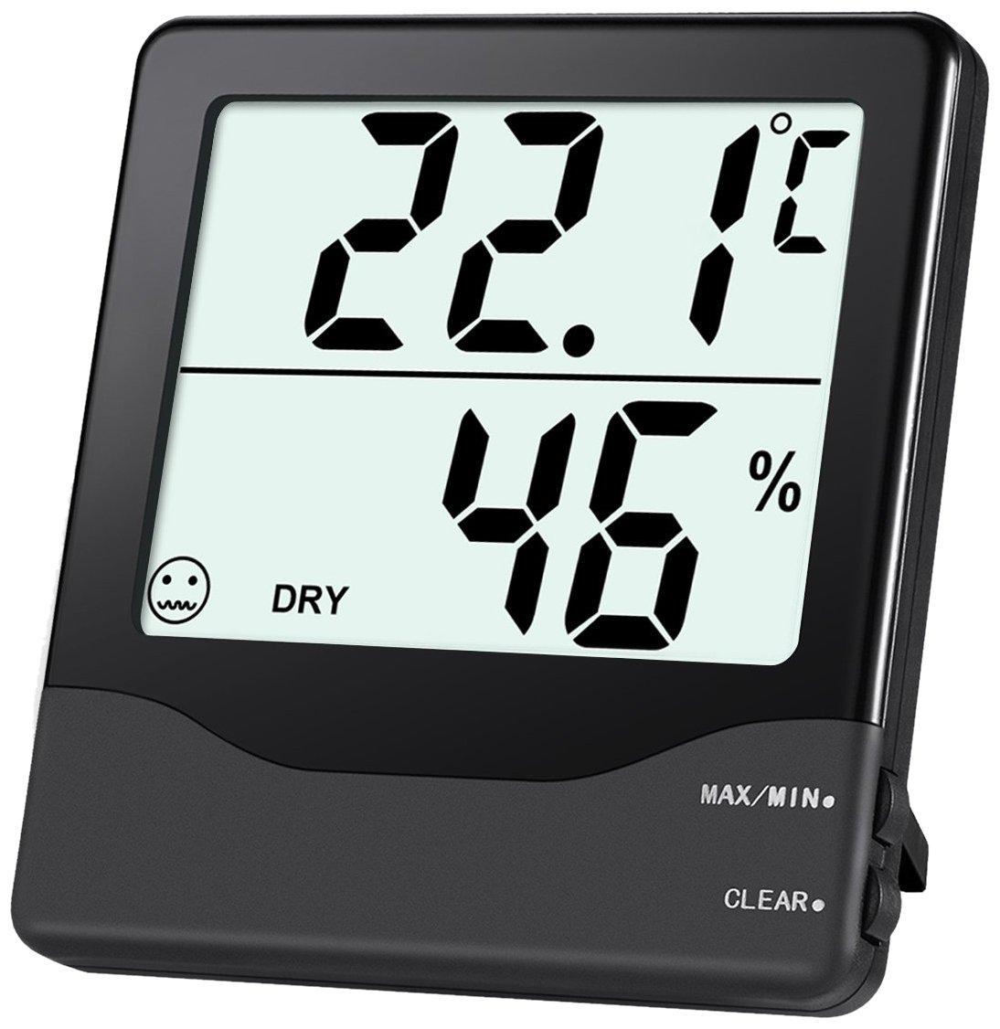 Oria Termometro per Frigorifero, Termometro Digitale per Interno/Esterno Senza Fili con 2 Sensori Wireless, Allarme Acustico, Registrazione Min/Max per Casa, Ristoranti, Caffè, ecc.
