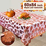 lace leaf maple iGeeKid Thanksgiving Maple Leaf Tablecloth 104x60'' Large Rectangular Lace Maple Tablecloth Thanksgiving (Large Size) (M)