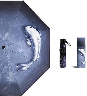 YSKGZ Parapluie Sunshine and Rain Parapluie Entièrement Automatique pour Hommes Et Femmes Parapluie Solaire en Caoutchouc Noir Double Parapluie Pliant, Manuel