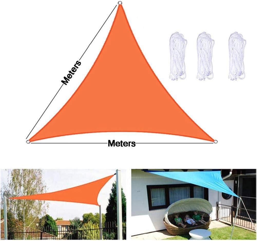 JLCP Vela da Sole Triangolare 2.4x2.4x2.4m, Vela Ombreggiante 160 G/M² Tessuto Oxford Impermeabile Protezione Raggi UV Garden Patio Tenda A Vela Parasole con Corde Libere,4 19