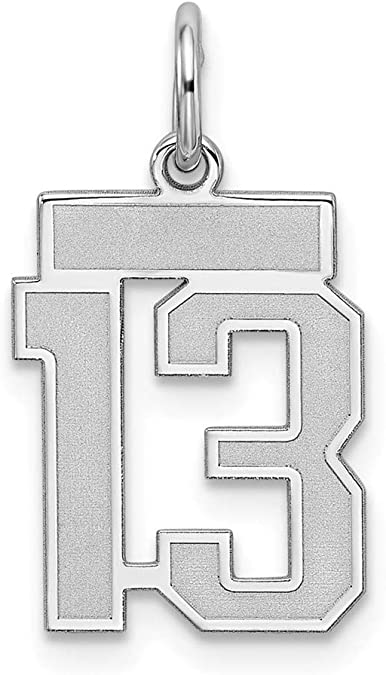 13mm x 14mm Solid 925 Sterling Silver Official Sigma Sigma Sigma Small Pendant Charm